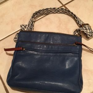 Fossil brand purse handbag crossbody blue near new