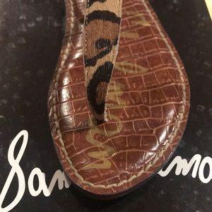 Sam Edelman Gigi Leopard Nude Sandals