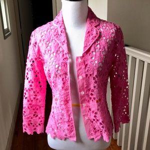 Lilly Pulitzer Sz 4 Wild Rose Eyelet Lace Shirt