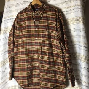 Ralph Lauren Plaid Button Down Shirt 100 cotton