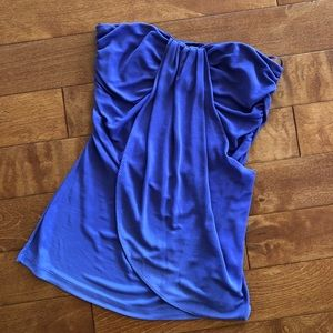 Zara collection purple strapless tube top, size M