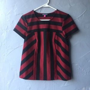 Vince Camuto striped blouse size XS