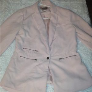 Light Pink Blazer with zippers