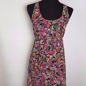 Xhilaration Sheer Floral Hi-low Dress