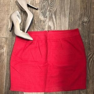 Red Coral Mini Pencil Skirt