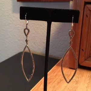 Judith Jack Silver & Marcasite Drop Earrings