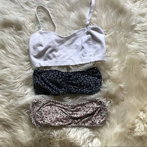 Three Brandy Melville bralettes!