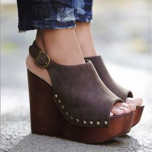 NEW Jefferey Campbell x Free People Olivia Wedges