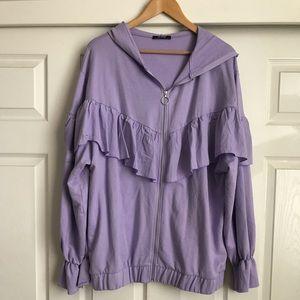 Zara lavender ruffled sweater