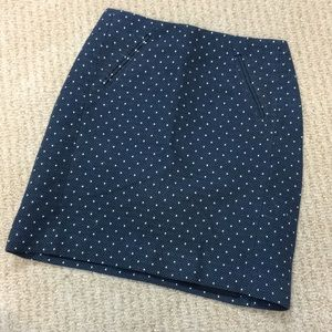 LOFT Polka Dot Skirt