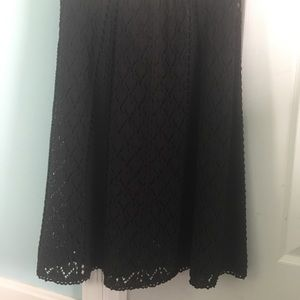 Black lace skirt Loft