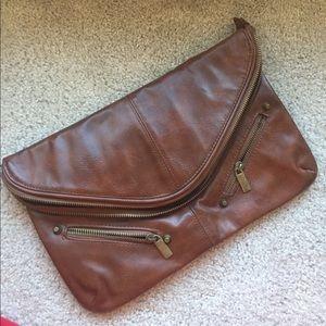 Brown clutch TOPSHOP