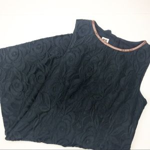 Anne Klein Leather & Lace Career Dress.