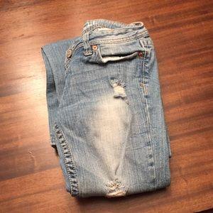 Aeropostale Chelsea boot cut jeans 00 distressed