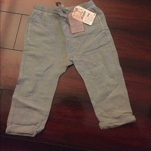 Zara boys blue linen pants- size 18-24 mos