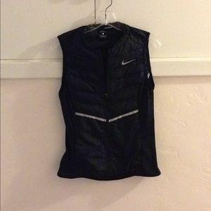 Nike down zip vest Sz s