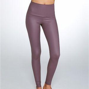 NWT Onzie High Rise Leggings XS- Purple Fishnet