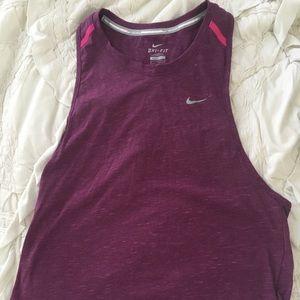 Nike DRI Fit Purple Tank