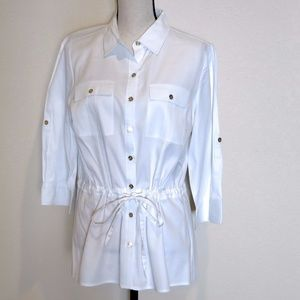 Michael Kors White Tunic Shirt Size 10