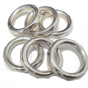 Silver Scarf Rings Or Bulbs - 4 Pcs.