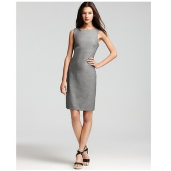 930f98a9 Theory Betty Tailor Gray Wool Sheath Dress Size 10.  M_5a0f7d274225be220b0139f0