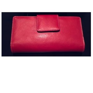 Handbags - $99 Genuine Leather Bifold Red Long Wallet