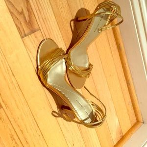 Chinese Laundry Gold Strappy Sandals