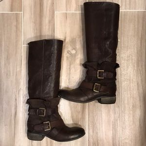 Boutique 9 Leather Upper Boots
