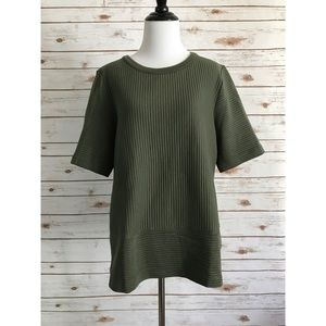 Boden olive green ribbed top