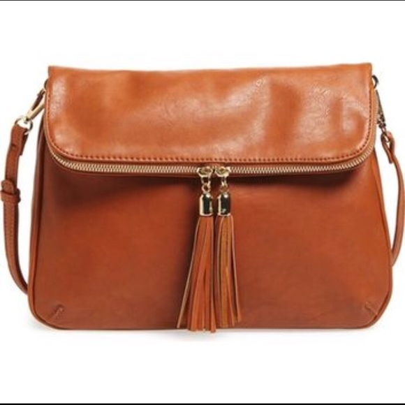 B.P. Foldover crossbody bag Nordstrom brown cognac