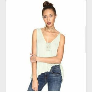 Free People NWT Mint Green New Vibes Tank Top
