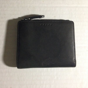 Coach Gray Leather Bifold Wallet