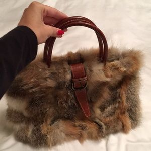 Handbags - Fur Handbag