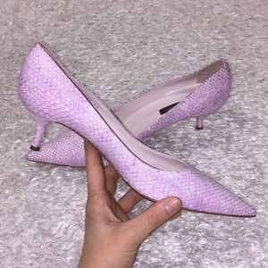 Like New Sergio Rossi Pink Reptile Pumps
