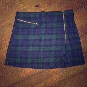 Topshop Plaid Miniskirt