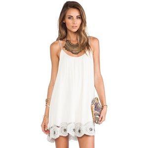 Tularosa (Revolve Clothing) Ivory Flowy Dress