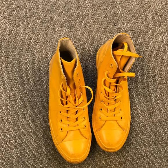 8967243e12476e Converse Other - Yellow Rubber Converse High Top Chucks