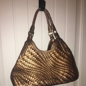 Cole Haan Genevieve woven bag.