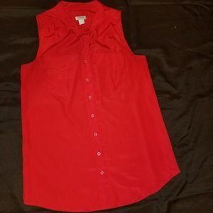 J Crew Sleeveless Button Down Blouse