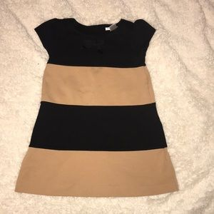 Black and tan color girls dress!