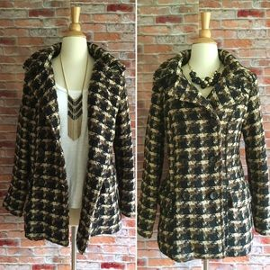 Old Navy plaid double breasted jacket