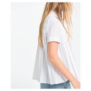 Zara Shirt with Fine Pleats