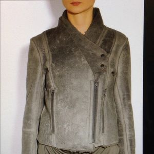 Helmut Lang Weathered Shearling Leather jacket L