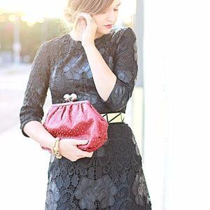 Zara Woman Crochet Faux Leather Dress