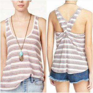 Free People NWT Best Night Striped Linen Tank Top