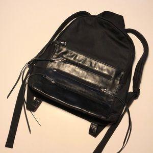 Rebecca Minkoff Nylon & Leather Zippered Backpack