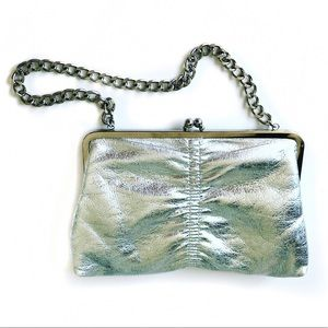 Silver evening cocktail bag