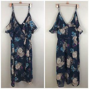 Xhilaration Floral Off The Shoulder Midi Dress