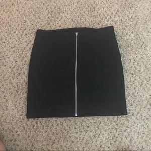 Zippered back Mini Skirt