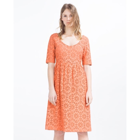 7a1eec4c ... Peach Floral Eyelet Lace Midi Dress. NWT. Zara.  M_5a0f814bbf6df5146d013a61. M_5a0f814c41b4e04d0201507f.  M_5a0f814f78b31c3395015122